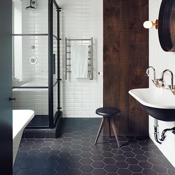 Hexagon Tegels Badkamer Zwarte Wit – KOOP TJUCHEM